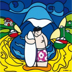 Poster Surfeur Basque - S. Gubert
