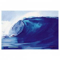 Poster Aquarelle The Big Wave