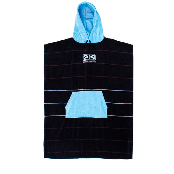 DAYBREAK HOODED PONCHO BLUE STRIPE