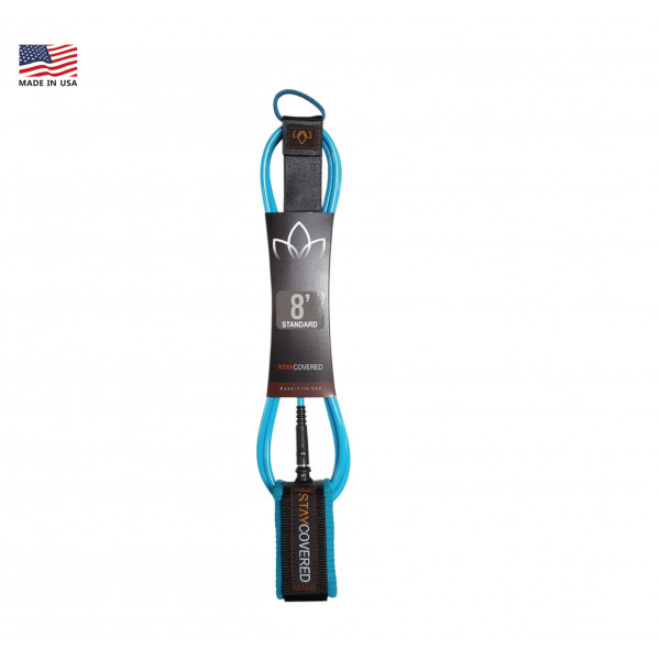 LEASH STAY COVERED 8' STANDARD BLEU LIGHT