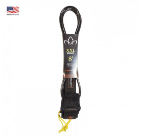 LEASH STAY COVERED 8' XXL BIG WAVE SURF BLACK