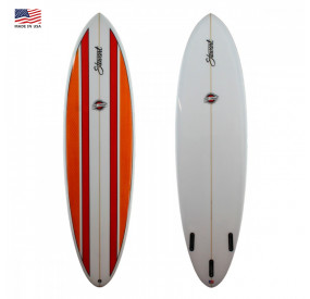 EGG STEWART FUNBOARD COMP' 7'4 ORANGE / RED STRIPES