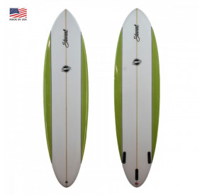 EGG STEWART FUNBOARD COMP' 7'6 GREEN STRIPES