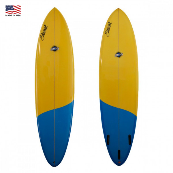 EGG STEWART FUNBOARD COMP' 7'8 YELLOW / BLUE