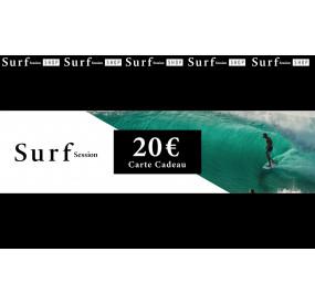 Carte cadeau 20€ - Surf Session