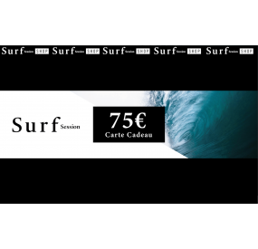 Carte cadeau 75€ - Surf Session